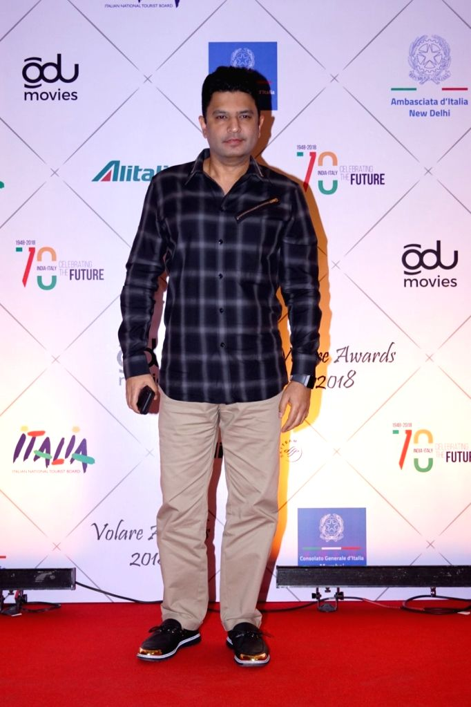 Bhushan Kumar, head honcho of entertainment conglomerate T-Series at the red carpet of Volare Awards 2018 in Mumbai on Feb 9, 2018. - Bhushan Kumar