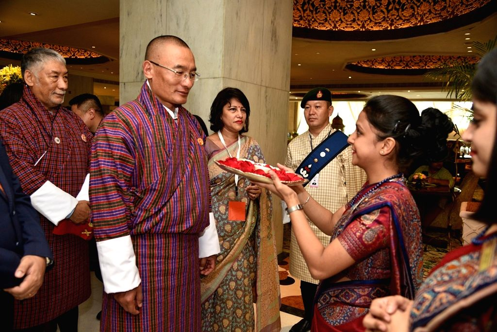 Bhutan Prime Minister Dasho Tshering Tobgay being welcomed on his arrival at the Taj Mahal Hotel, in New Delhi, on July 5, 2018. - Dasho Tshering Tobgay