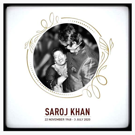 Big B: Saroj Khan gave industry its rhythm, style, grace of movement. - Saroj Khan