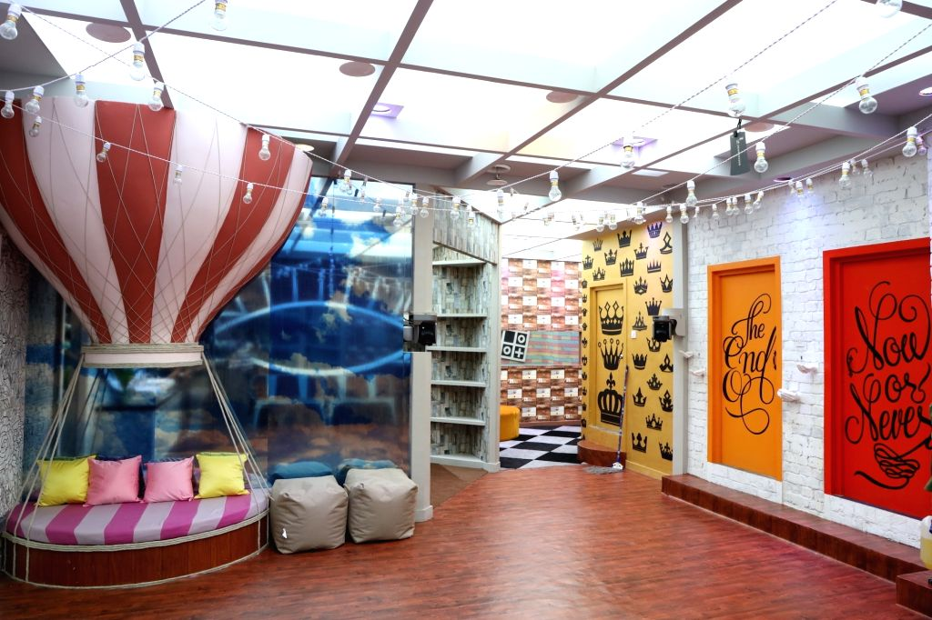 """Big Boss House - bathroom area. Art director Omung Kumar, who has been designing the set for the reality show """"Bigg Boss"""" for years now, decided to go plastic-free for the 13th season. This decision comes at a time when the government is trying to do - Omung Kumar"""