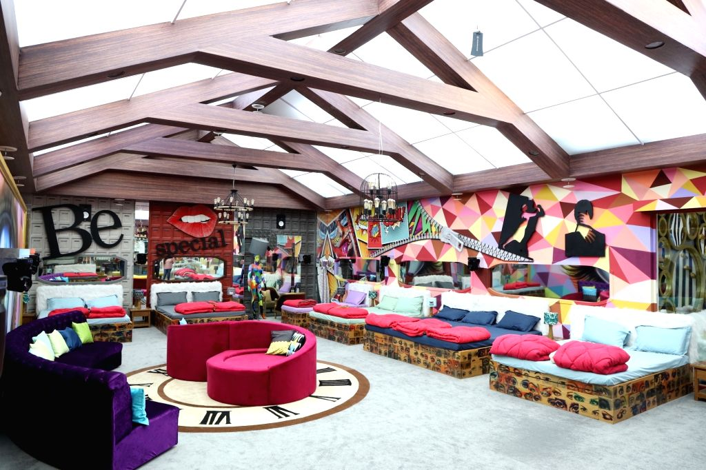 """Big Boss House - bedroom. Art director Omung Kumar, who has been designing the set for the reality show """"Bigg Boss"""" for years now, decided to go plastic-free for the 13th season. This ... - Omung Kumar"""
