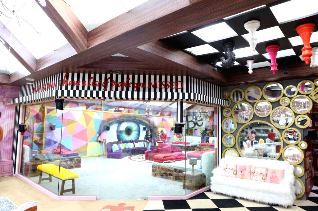 """Big Boss House - outside bedroom. Art director Omung Kumar, who has been designing the set for the reality show """"Bigg Boss"""" for years now, decided to go plastic-free for the 13th season. ... - Omung Kumar"""
