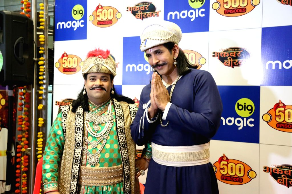 Big Magic's show 'Akbar Birbal ' successful completion Of 500 episodes celebration in Mumbai on Sep 26, 2016