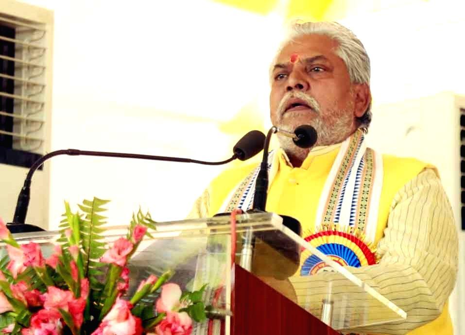 Bihar Agriculture Minister Prem Kumar addresses during a programme, in Patna on Aug 29, 2019. - Prem Kumar