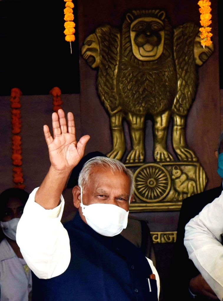 Bihar Assembly pro-tem speaker Jitan Ram Manjhi arrives at the state assembly on the second day of the Winter Session, in Patna on Nov 24, 2020. - Jitan Ram Manjhi