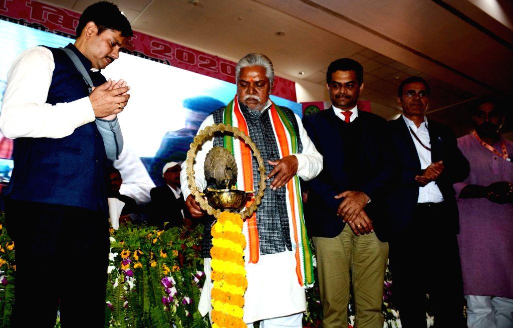 Bihar Cabinet Minister Prem Kumar during the inauguration of Flower Festival in Patna, on Feb 07, 2020. - Prem Kumar