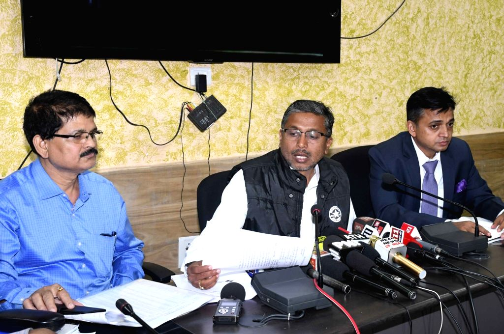 Bihar Chief Election officer H.R. Biswas addresses a press conference in Patna on March 10, 2019.