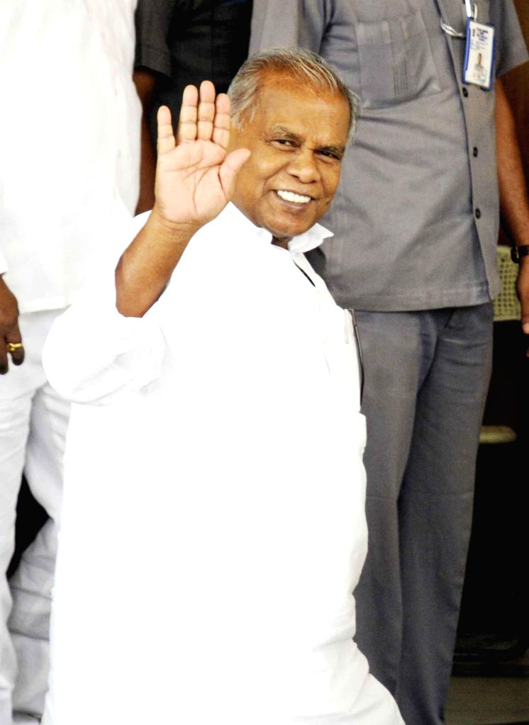 Bihar Chief Minister Jitan Ram Majhi arrives at Bihar Legislative Assembly in Patna on July 10, 2014. - Jitan Ram Majhi