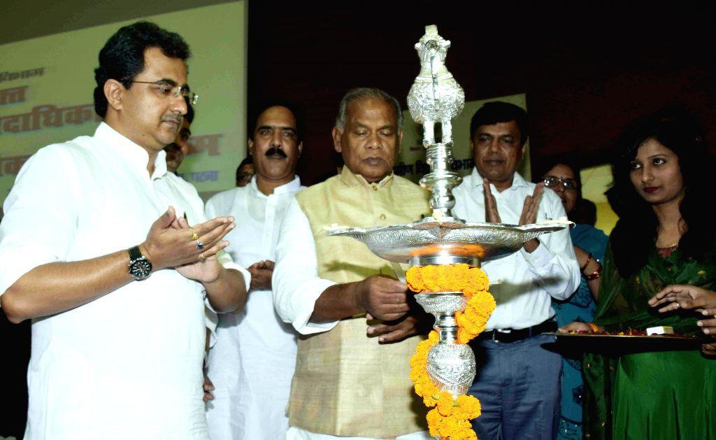 Bihar Chief Minister Jitan Ram Majhi during a programme in Patna on Aug 12, 2014. - Jitan Ram Majhi