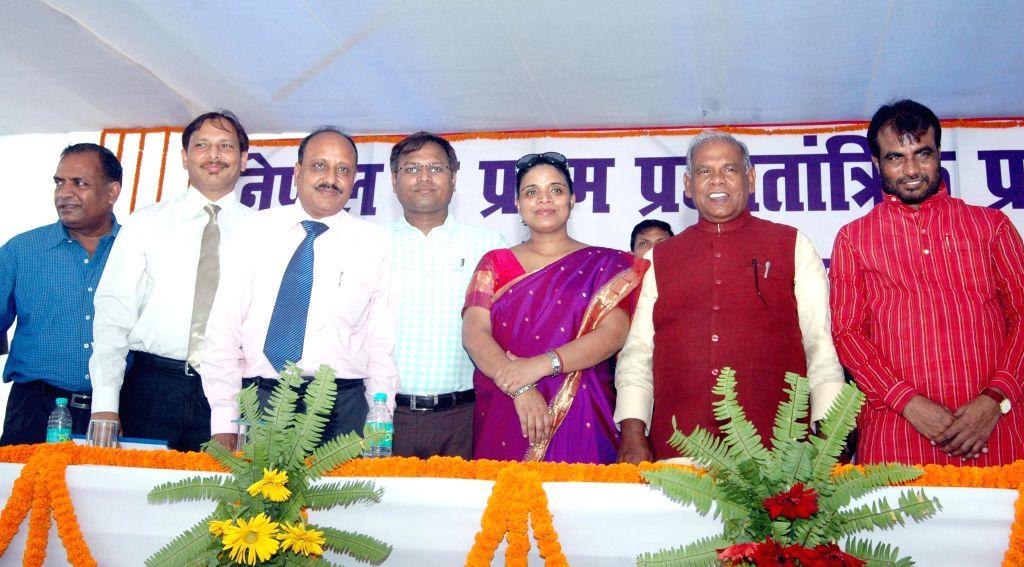 Bihar Chief Minister Jitan Ram Majhi during a programme organised on the birth anniversary of former Prime Minister of Nepal Bishweshwar Prasad Koirala in Patna on Sept 9, 2014. - Jitan Ram Majhi