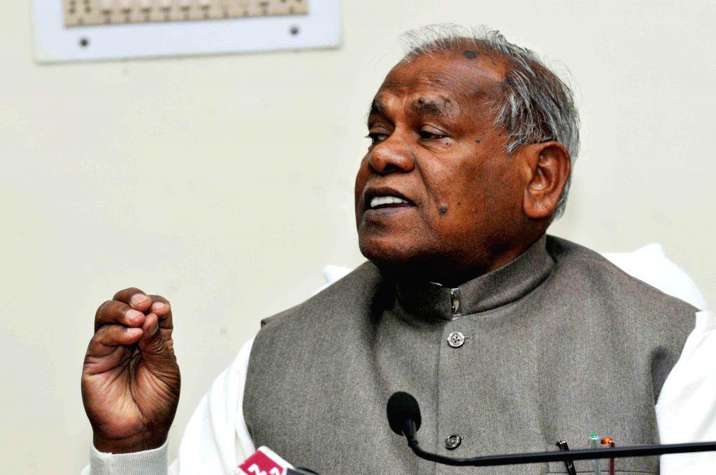 Bihar Chief Minister Jitan Ram Majhi during a programme organised on National Youth Day in Patna on Jan 12, 2015. - Jitan Ram Majhi