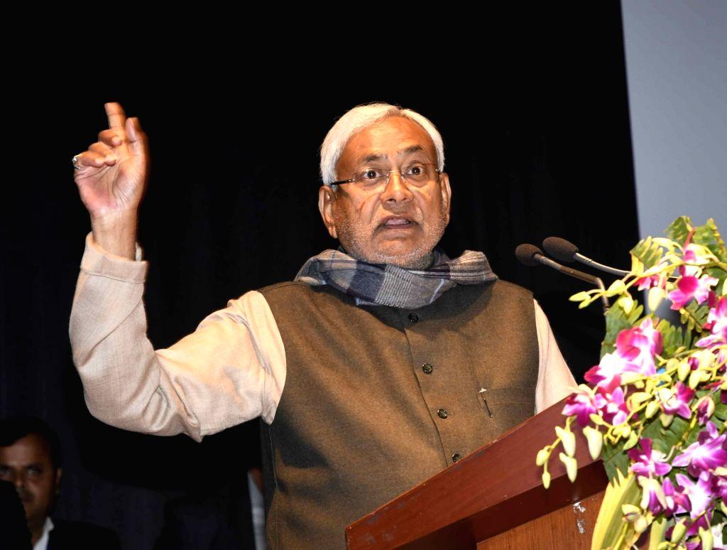 Bihar Chief Minister Nitish Kumar addresses at the inauguration of STPI New Incubation Facility Gyan Bhawan, in Patna, on  Feb 2, 2019. - Nitish Kumar