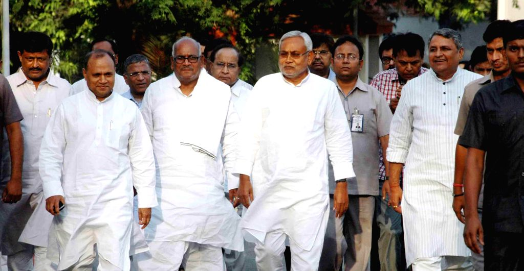 Bihar Chief Minister Nitish Kumar after resigning from his post in Patna on May 17, 2014.