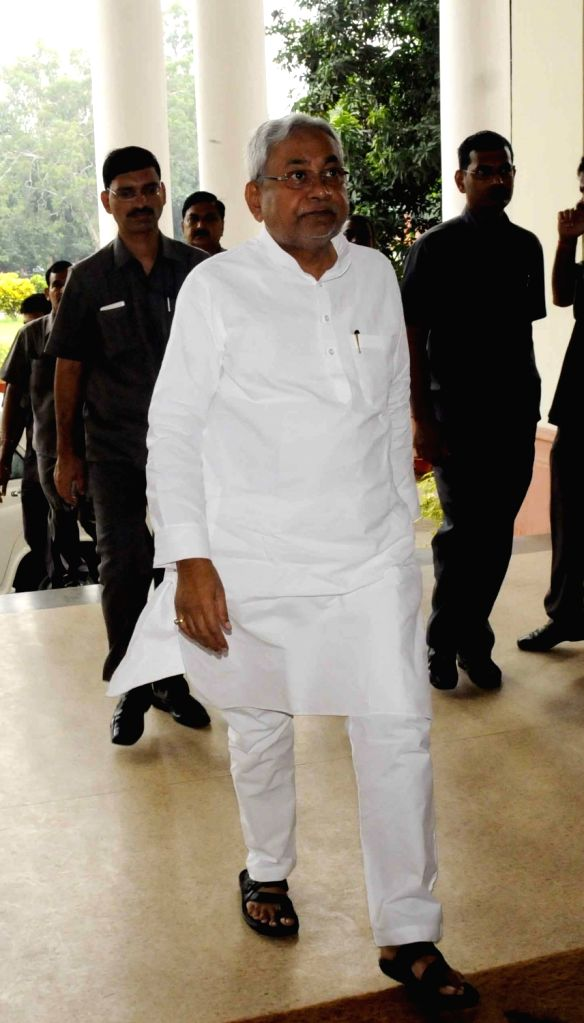 Bihar Chief Minister Nitish Kumar arrives for a cabinet meeting at state assembly in Patna on July 30, 2016. - Nitish Kumar