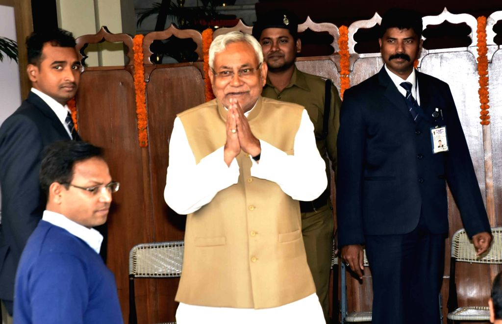 Bihar Chief Minister Nitish Kumar arrives to attend state Assembly's winter session in Patna on Nov 28, 2016. - Nitish Kumar