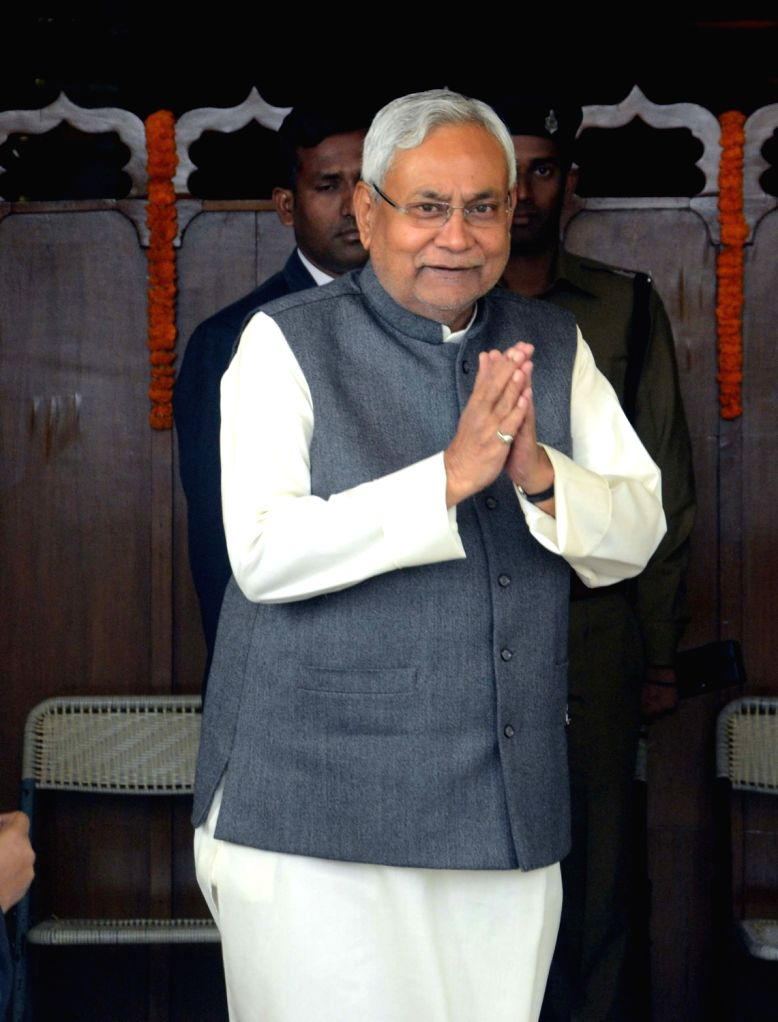 Bihar Chief Minister Nitish Kumar arrives to attend state Assembly's winter session in Patna on Nov 30, 2016. - Nitish Kumar