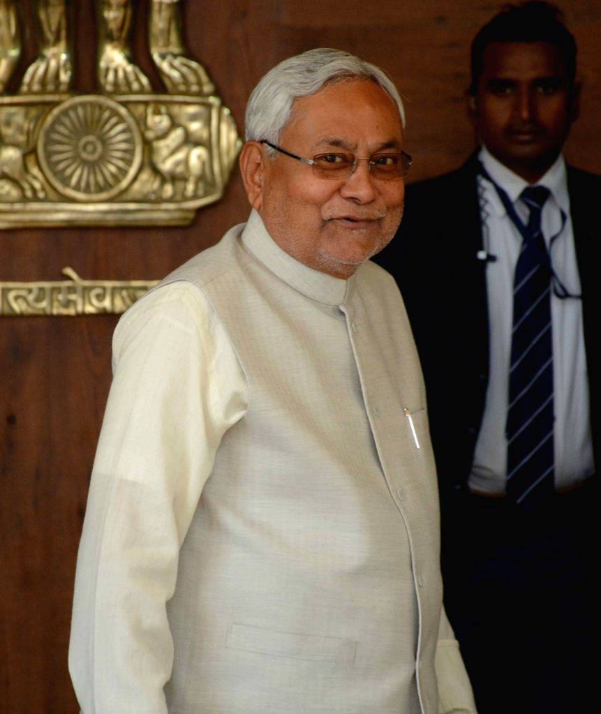 Bihar Chief Minister Nitish Kumar arrives to attend the winter session of Bihar Legislative Assembly in Patna on Nov 30, 2017. - Nitish Kumar