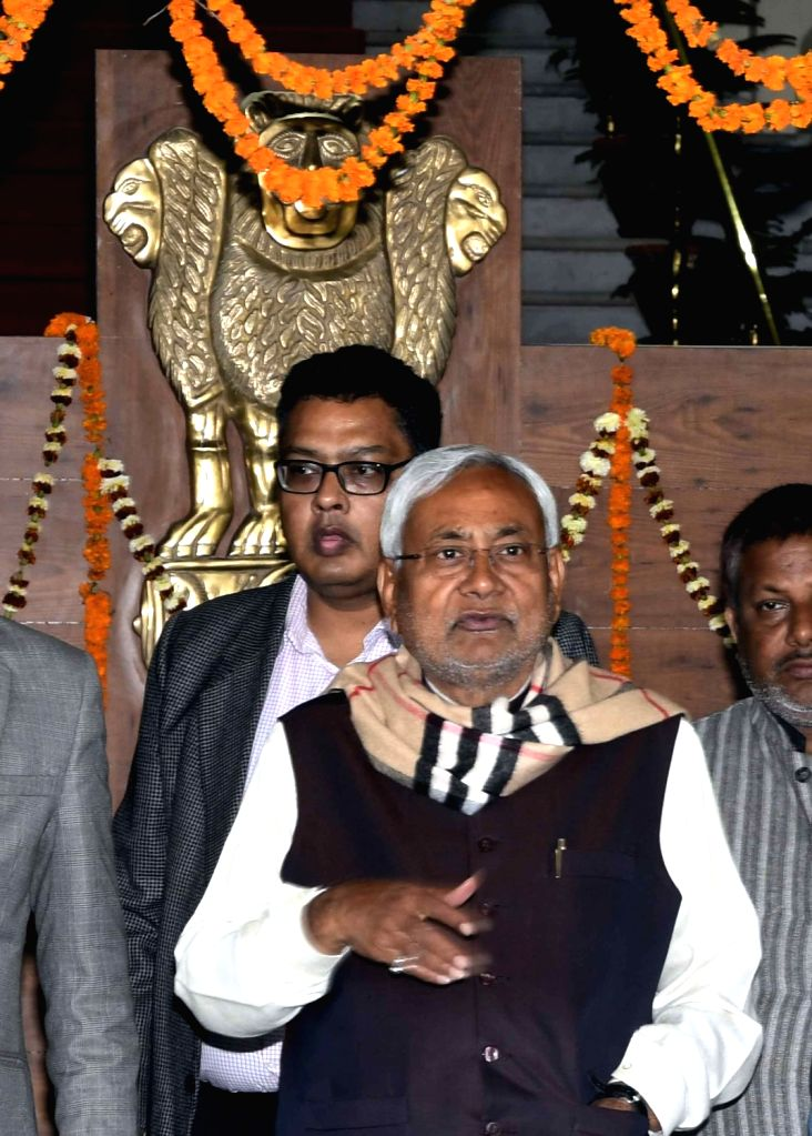 Bihar Chief Minister Nitish Kumar at state assembly in Patna on Feb 12, 2019. - Nitish Kumar
