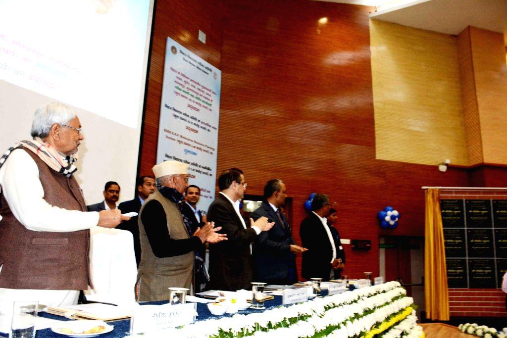 Bihar Chief Minister Nitish Kumar at the launch of various welfare schemes, in Patna on Jan 27, 2020. - Nitish Kumar