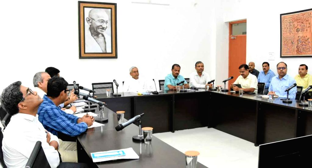 Bihar Chief Minister Nitish Kumar attends a climate change friendly agriculture review meeting in Patna on Sep 12, 2019. - Nitish Kumar