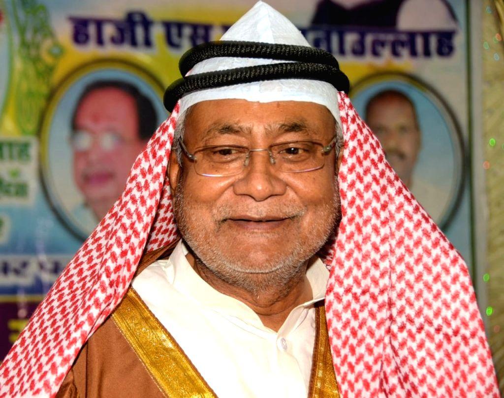 Bihar Chief Minister Nitish Kumar celebrates Eid-ul-Fitr in Patna on June 5, 2019. - Nitish Kumar