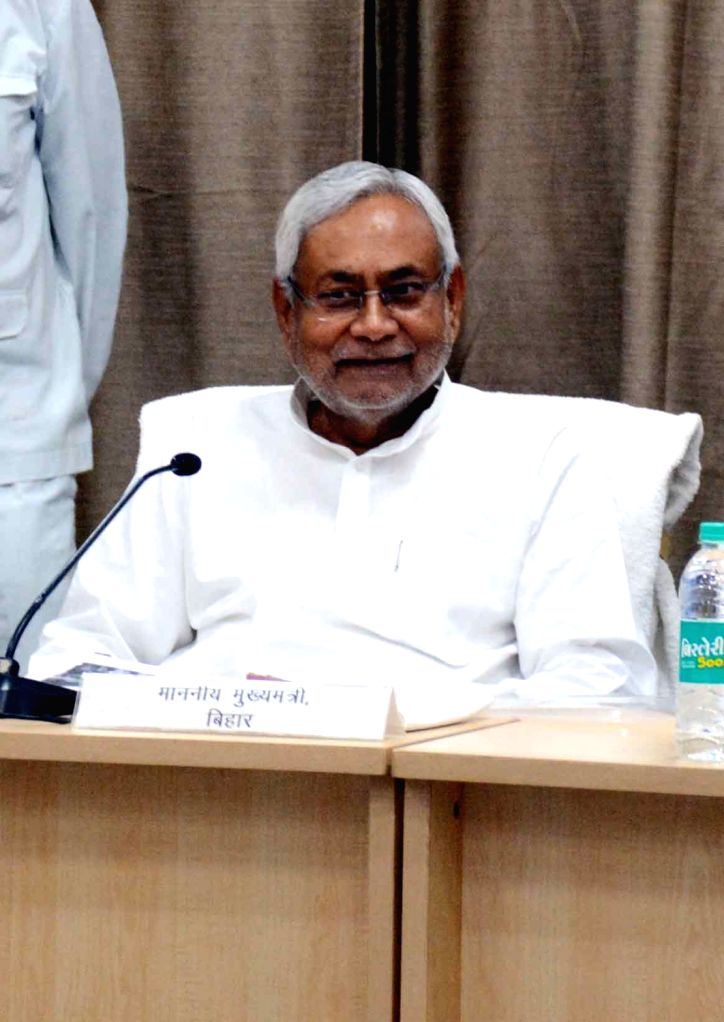 Bihar Chief Minister Nitish Kumar chairs a review meeting of the Education Department, in Patna on June 1, 2019. - Nitish Kumar
