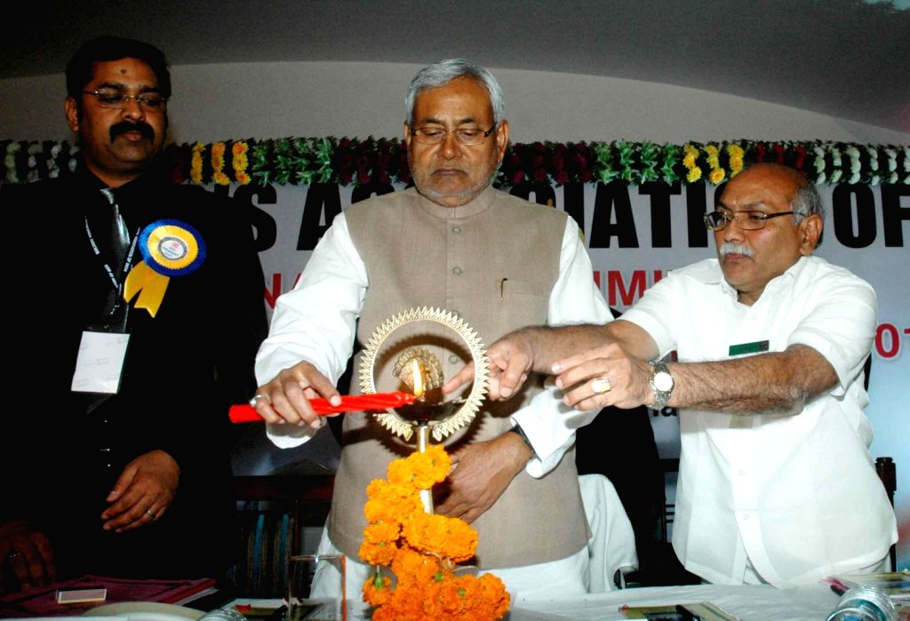 Bihar Chief Minister Nitish Kumar during programme in Patna on Dec.20, 2013.