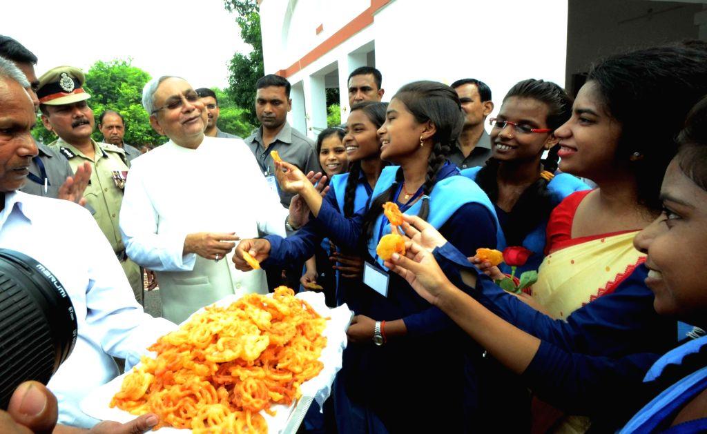 Bihar Chief Minister Nitish Kumar during Independence Day celebrations in Patna on Aug 15, 2016. - Nitish Kumar