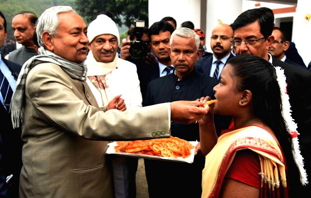 Bihar Chief Minister Nitish Kumar during 71st Republic Day celebrations, in Patna on Jan 26, 2020. - Nitish Kumar