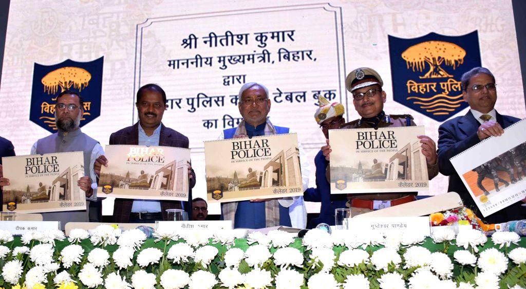 Bihar Chief Minister Nitish Kumar during inauguration of Bihar Police Coffee Table book in Patna on Feb 6, 2019. - Nitish Kumar