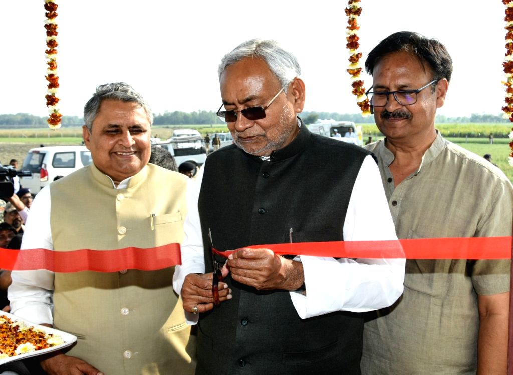 Bihar Chief Minister Nitish Kumar during inauguration of Digital Irrigation Automation in Patna on March 7, 2019. - Nitish Kumar