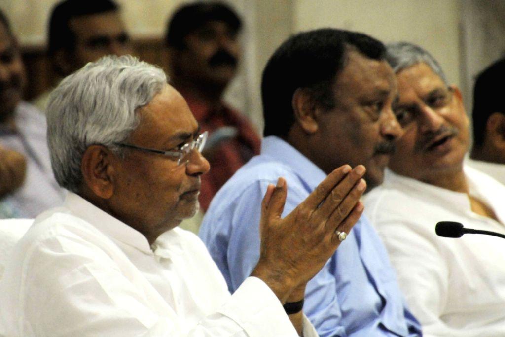 Bihar Chief Minister Nitish Kumar during a programme in Patna on May 15, 2017. - Nitish Kumar