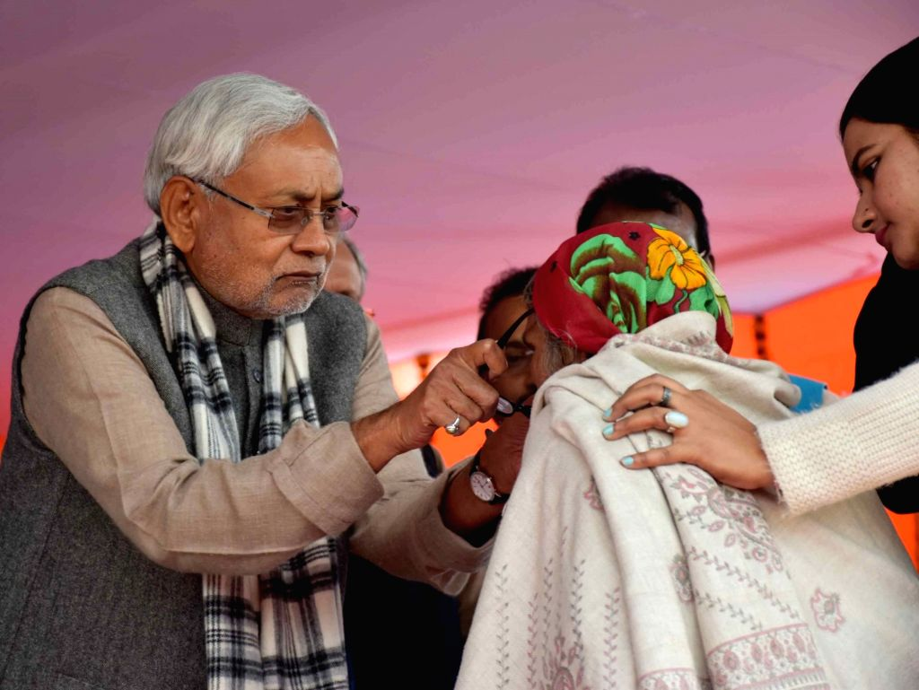 Bihar Chief Minister Nitish Kumar during a Republic Day programme in Patna on Jan 26, 2019. - Nitish Kumar