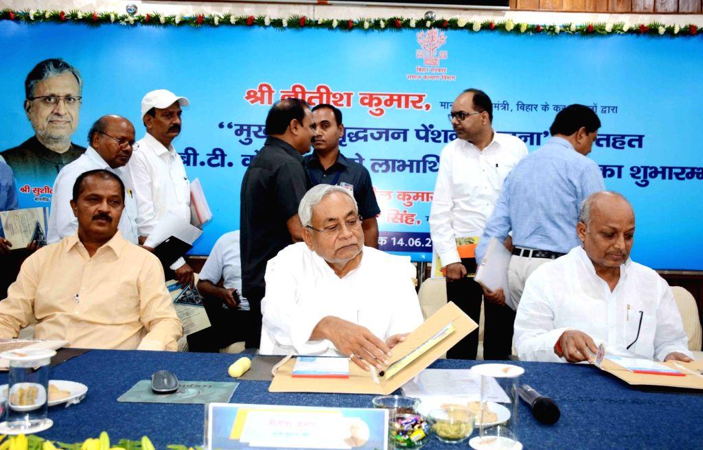 Bihar Chief Minister Nitish Kumar during a programme in Patna on June 14, 2019. - Nitish Kumar