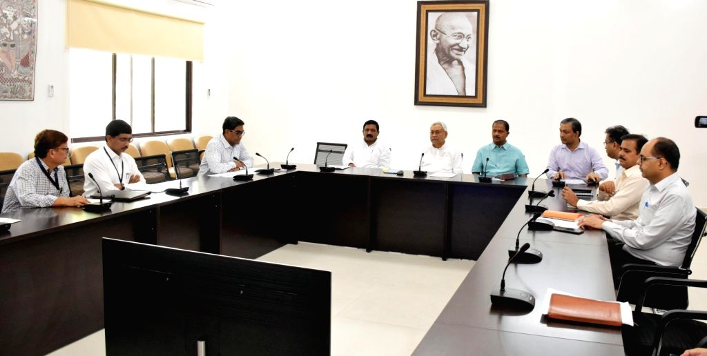 Bihar Chief Minister Nitish Kumar during a programme organised to disburse Rs 6,000 gratuitous relief to each flood affected family in the state through direct benefit transfer (DBT), in Patna ... - Nitish Kumar
