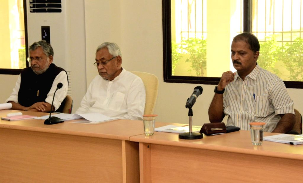 Bihar Chief Minister Nitish Kumar during a review meeting of Finance department in Patna on June 18, 2019. - Nitish Kumar