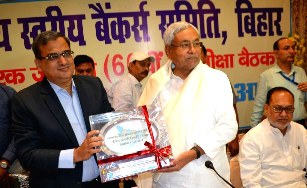 Bihar Chief Minister Nitish Kumar during a state level banker's meet in Patna on May 11, 2017. - Nitish Kumar
