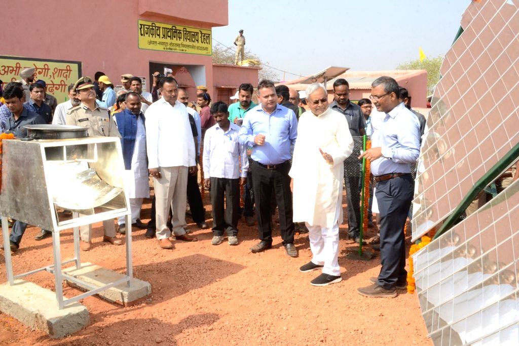 Bihar Chief Minister Nitish Kumar during a visit to the village to assess the development works in Bihar on April 6, 2018. - Nitish Kumar