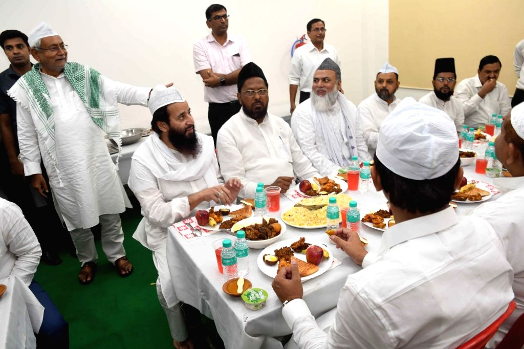 Bihar Chief Minister Nitish Kumar during an iftar party at his official residence in Patna on May 28, 2019. - Nitish Kumar