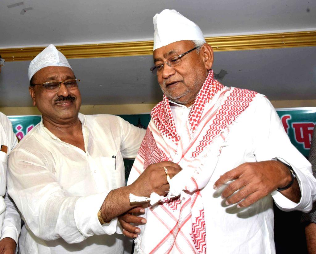 Bihar Chief Minister Nitish Kumar during an iftar party, in Patna on June 1, 2019. - Nitish Kumar