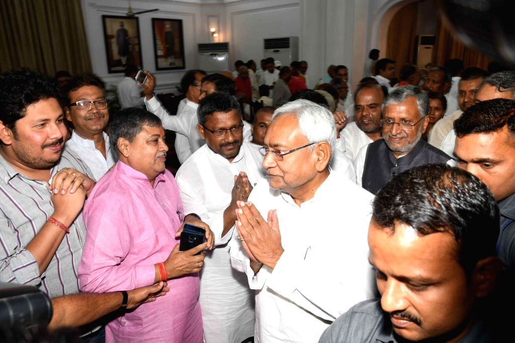 Bihar Chief Minister Nitish Kumar during Bihar cabinet expansion, in Patna, on June 2, 2019. - Nitish Kumar