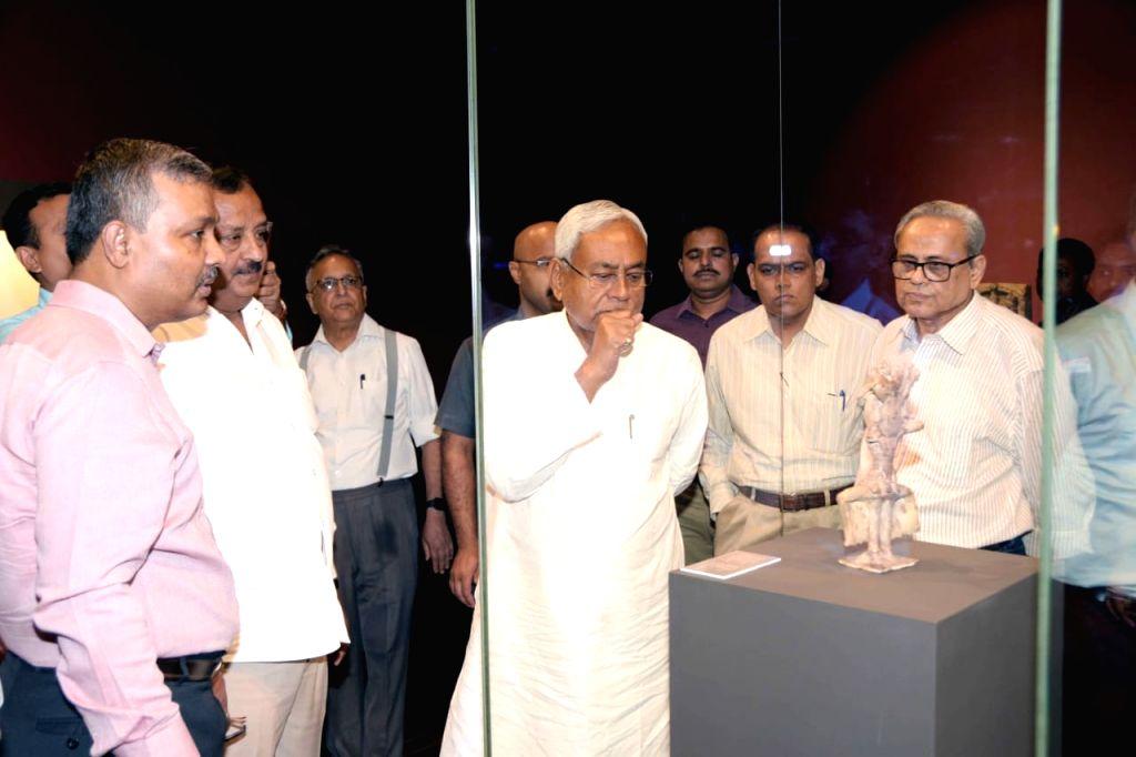 Bihar Chief Minister Nitish Kumar during his visit to the Bihar Museum, in Patna on May 21, 2019. - Nitish Kumar