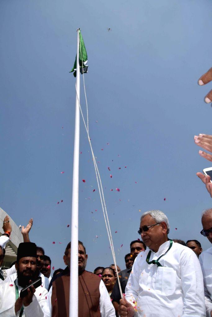 Bihar Chief Minister Nitish Kumar during JD-U's national convention in Rajgir of Bihar on Oct 16 2016. - Nitish Kumar