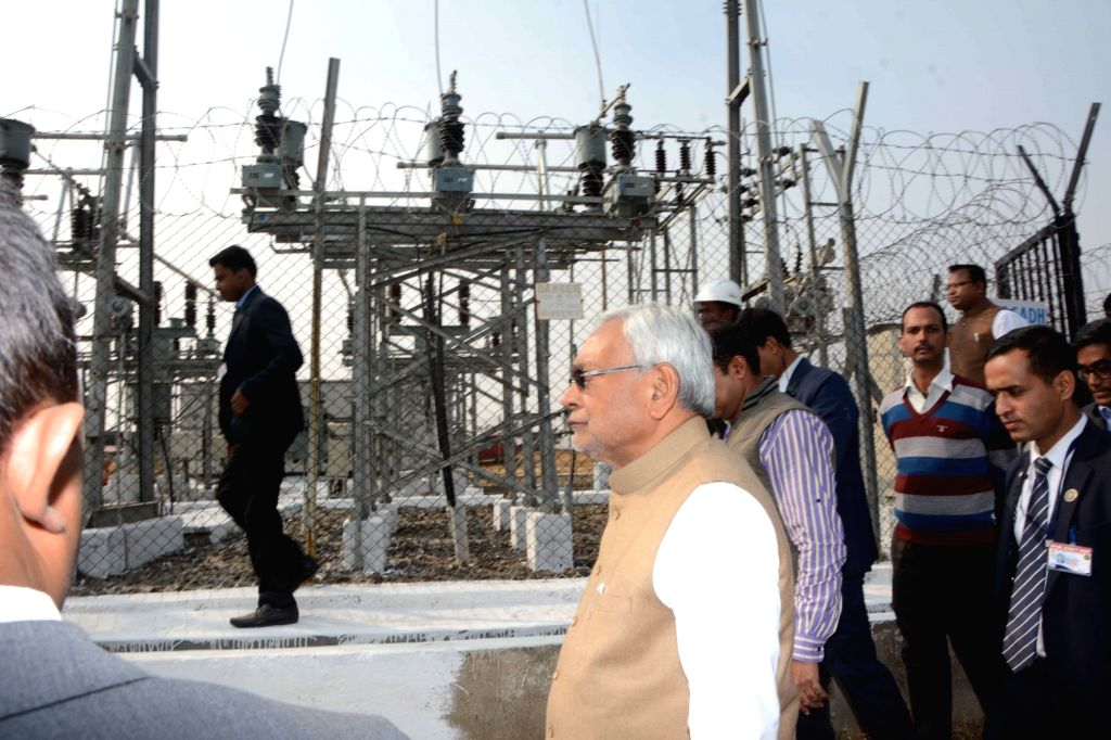 Bihar Chief Minister Nitish Kumar during the inspection of a solar power plant in Bihar's Banka on Dec 7, 2018. - Nitish Kumar