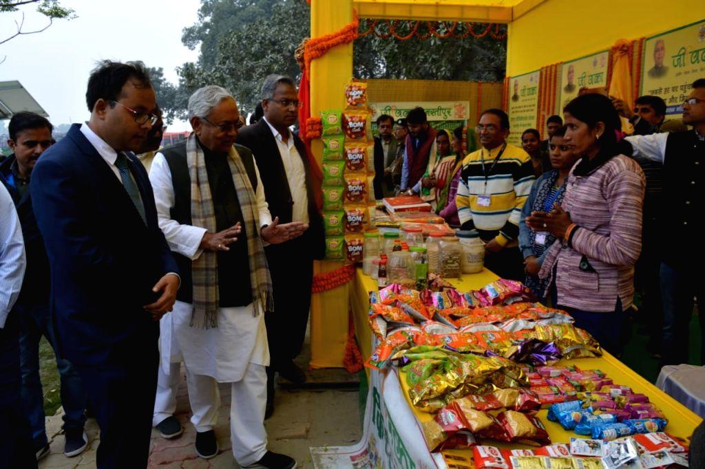Bihar Chief Minister Nitish Kumar during the inauguration of various development projects at Maheshpur in Bihar's Samastipur district on Dec 12, 2019. - Nitish Kumar
