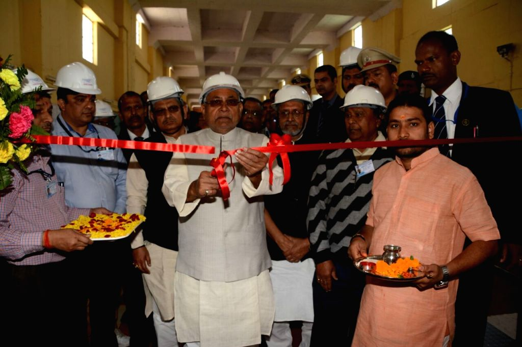 Bihar Chief Minister Nitish Kumar inaugurates Bateshwarsthan Pump Canal Irrigation Project in Kahalgaon, Bihar on Feb 15, 2018. - Nitish Kumar