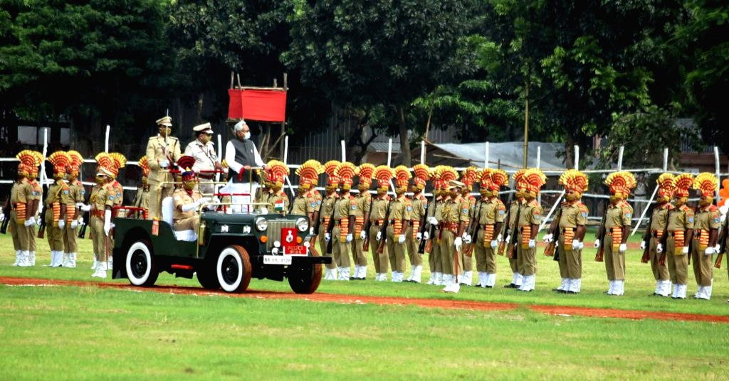 Bihar Chief Minister Nitish Kumar inspects the 74th Independence Day parade at Gandhi Maidan in Patna on Aug 15, 2020. - Nitish Kumar