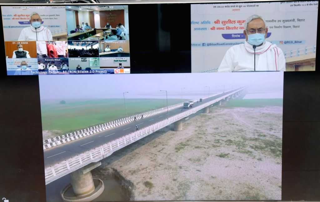 Bihar Chief Minister Nitish Kumar lays the foundation stones and inaugurates 517 projects undertaken by the State Road Construction Department worth Rs 5,024 Crores, through video ... - Nitish Kumar