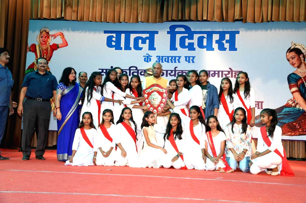 Bihar Chief Minister Phagu Chauhan during a programme organised on the occasion of Children's Day, in Patna on Nov 14, 2019. - Phagu Chauhan