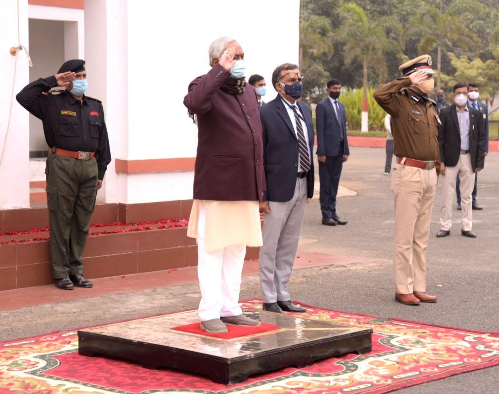 Bihar CM Nitish Kumar unfurls National Flag at his residence in Patna on Tuesday, 26, jan 2021 -Aftab Alam Siddiqui. - Nitish Kumar